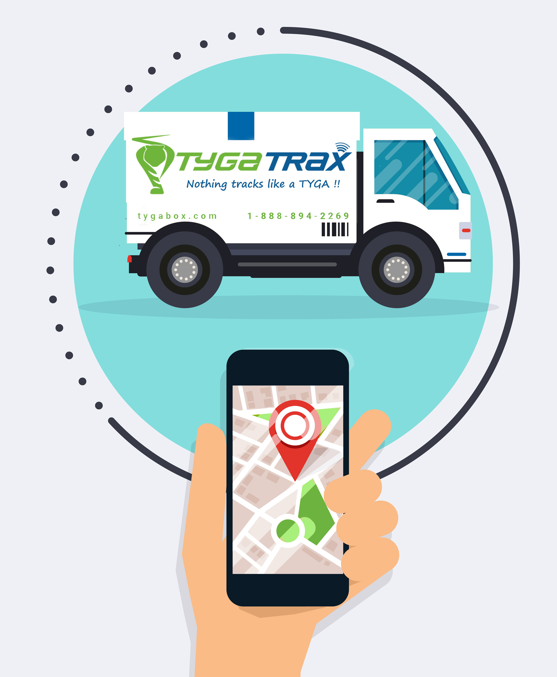 tyga TRAX delivery truck tracking small cropped